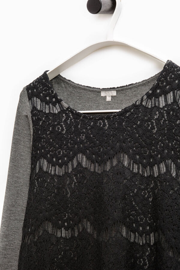 Smart Basic T-shirt with lace insert | OVS