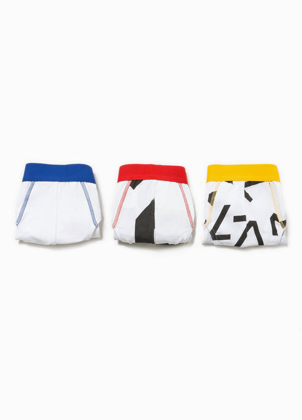 Three-pack solid colour and patterned briefs | OVS