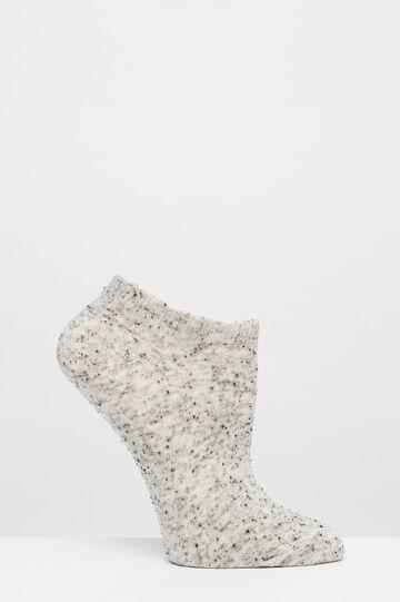 Three-pair pack cotton blend socks, Grey, hi-res