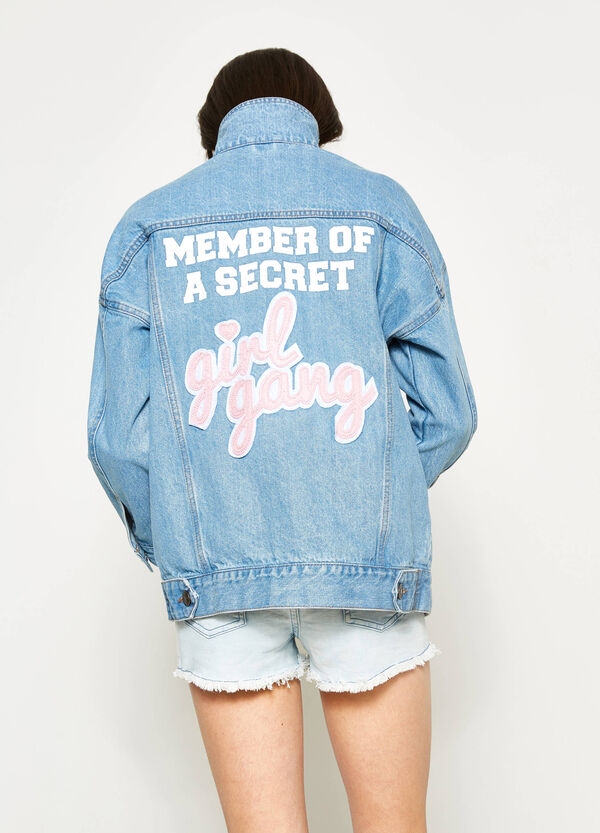 Teen denim jacket with print | OVS