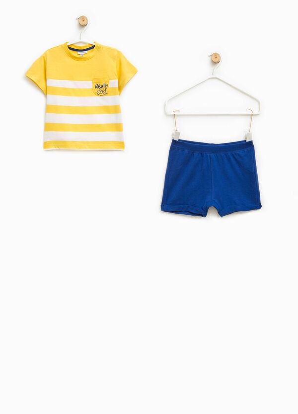 Striped T-shirt and shorts set | OVS