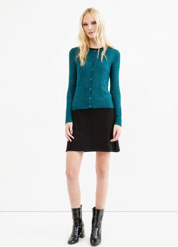 Mohair wool and viscose blend cardigan | OVS