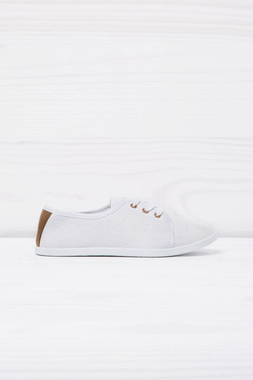 Low sneakers with laces, White, hi-res