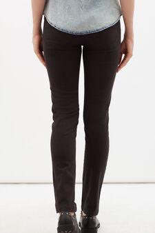 Pantaloni stretch tinta unita, Grigio scuro, hi-res