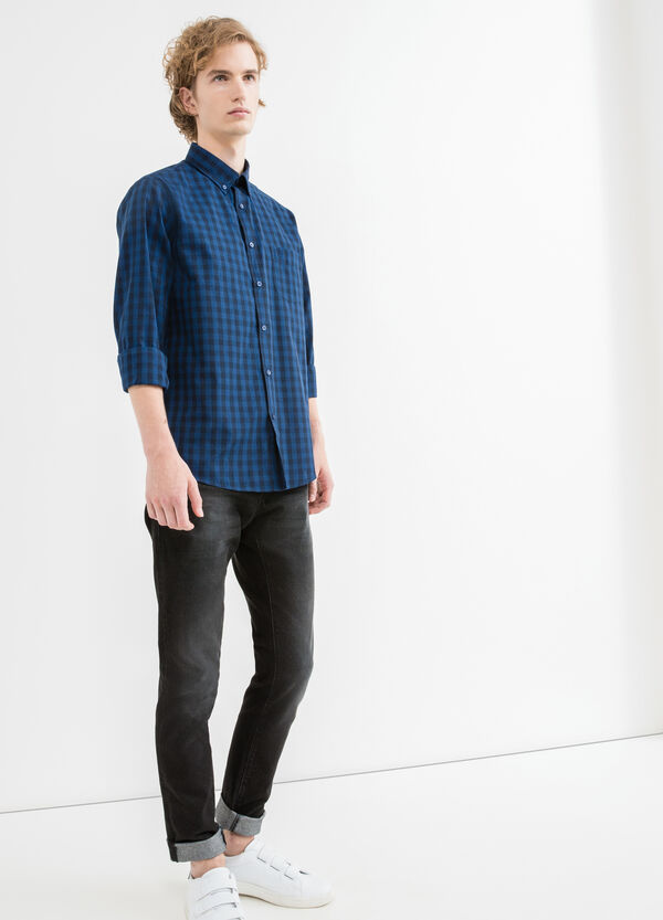 Casual shirt with yoke seam on the back | OVS