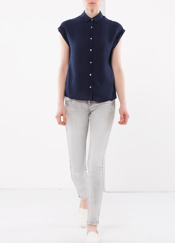 Shirt with embossed design | OVS