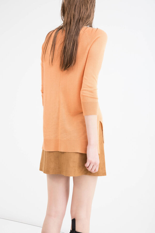 Viscose blend pullover with splits | OVS