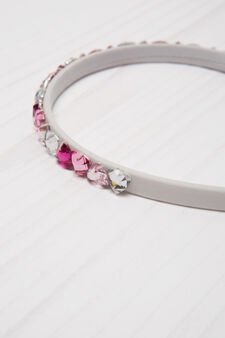 Hairband with diamanté decoration, Pink, hi-res
