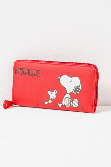Wallet with Peanuts print, Red, hi-res