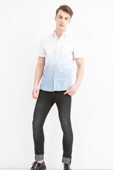 G&H degradé shirt in cotton, Grey, hi-res