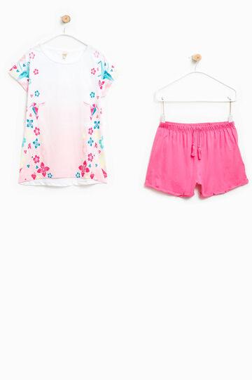 100% Biocotton pyjamas with maxi print