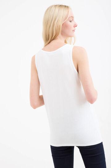 Printed 100% cotton top, White, hi-res