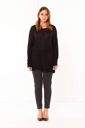 Curvy sweater, Black, hi-res