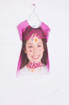 T-shirt in cotone Soy Luna, Rosa fuxia, hi-res