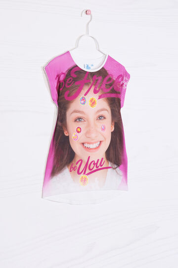 Cotton Soy Luna T-shirt, Fuchsia, hi-res