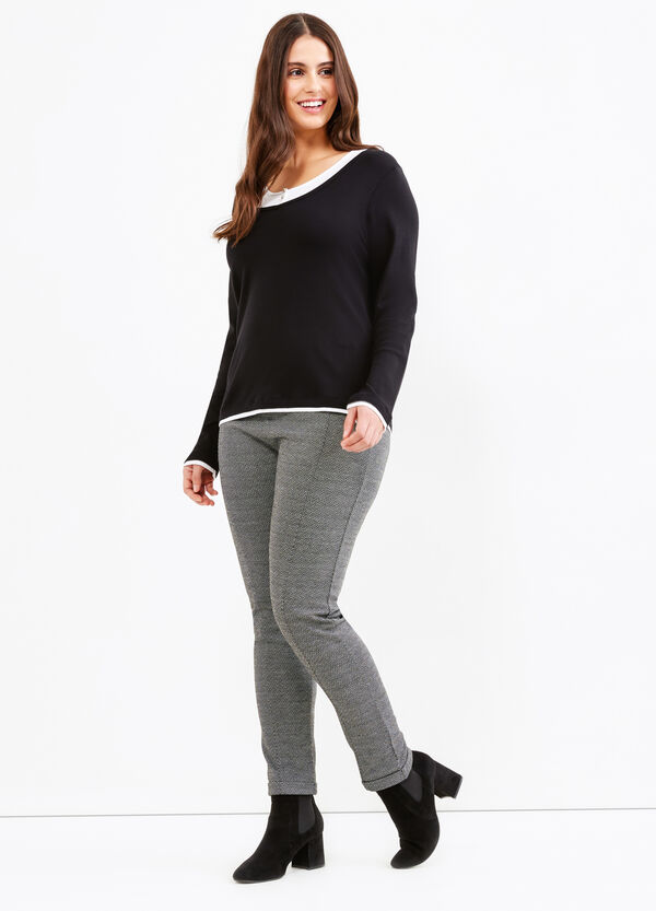 Curvy stretch leggings with pattern | OVS