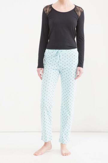 Pantaloni pigiama cotone fantasia, Verde, hi-res