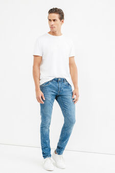 Skinny-fit, mis-dyed-effect, stretch jeans, Denim, hi-res