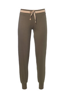 Smart Basic plain cotton trousers, Army Green, hi-res