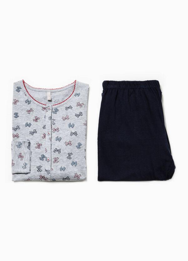 Pijama de algodón con estampado de lacitos | OVS