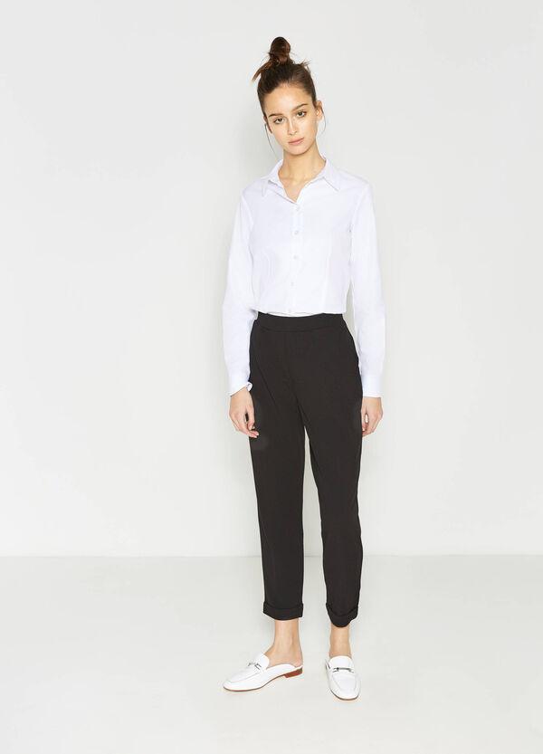 Pantaloni in jersey con risvolto | OVS