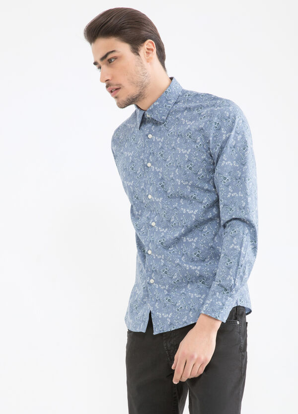 Camicia cotone fantasia floreale | OVS