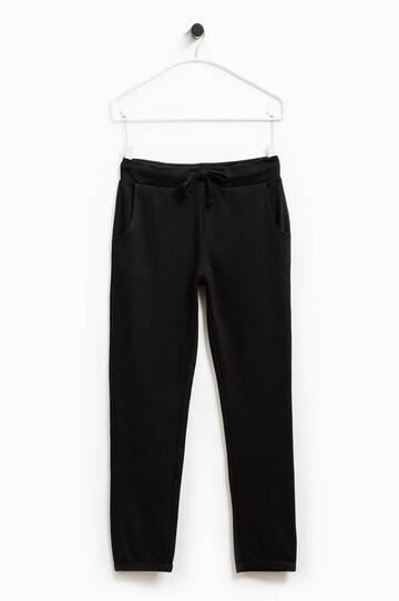 Pantaloni tuta in cotone Smart Basic, Nero, hi-res