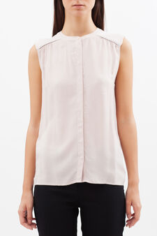 Sleeveless stretch blouse, Pastel Pink, hi-res