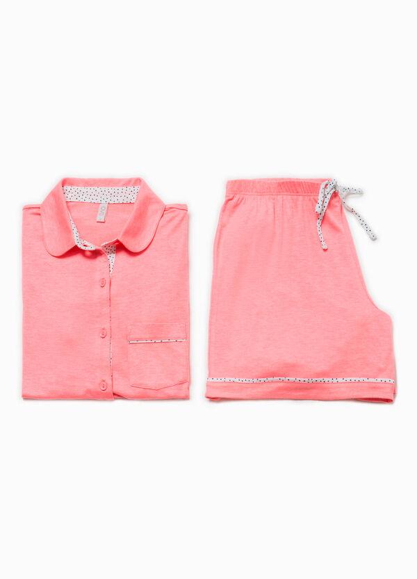 Cotton top and shorts pyjama set   OVS