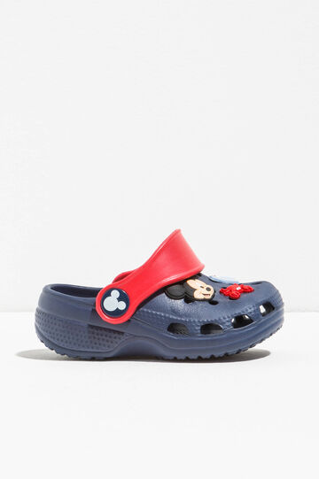 Slippers with Mickey Mouse patch