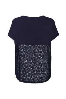 Smart Basic stretch viscose T-shirt, Navy Blue, hi-res