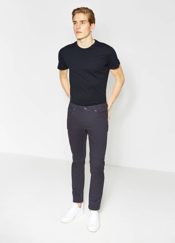 Pantaloni slim fit in cotone | OVS