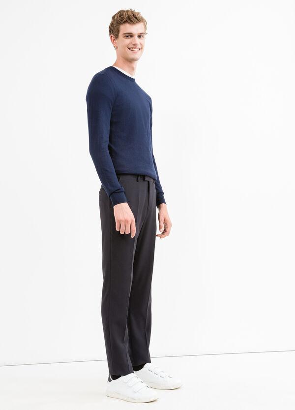 Jersey en mezcla de cachemira con cuello redondo | OVS
