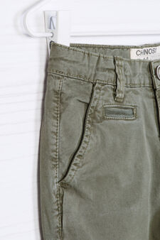 Pantaloni chino cotone stretch, Verde, hi-res