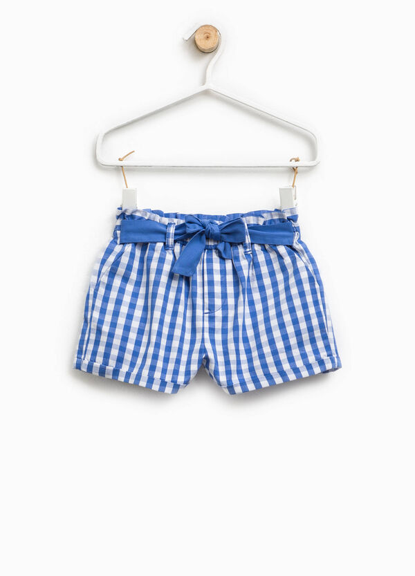 Check shorts in cotton | OVS