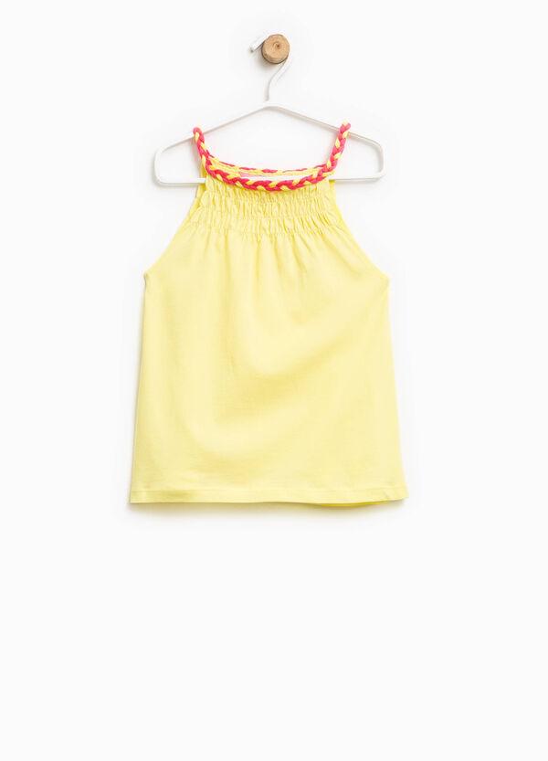Top with braided neckline | OVS