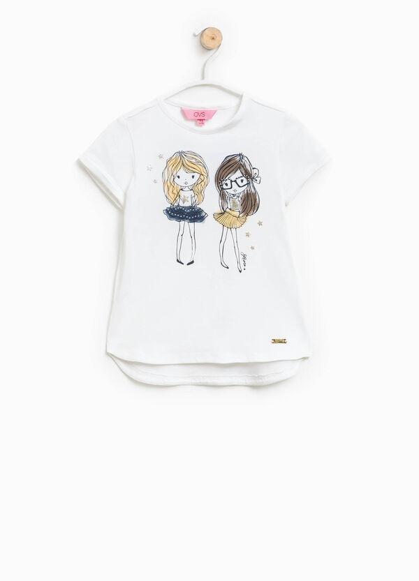 T-shirt con glitter paillettes e strass   OVS