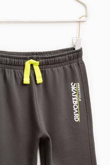 Pantaloni tuta stampa lettering, Grigio antracite, hi-res