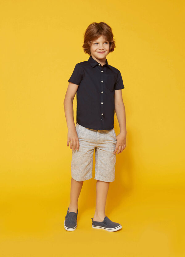 Cotton shirt with short sleeves | OVS