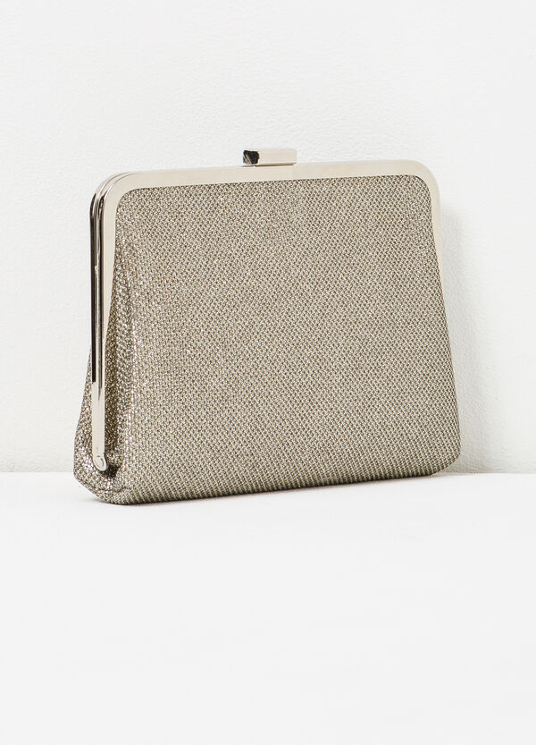 Clutch bag with raised pattern | OVS