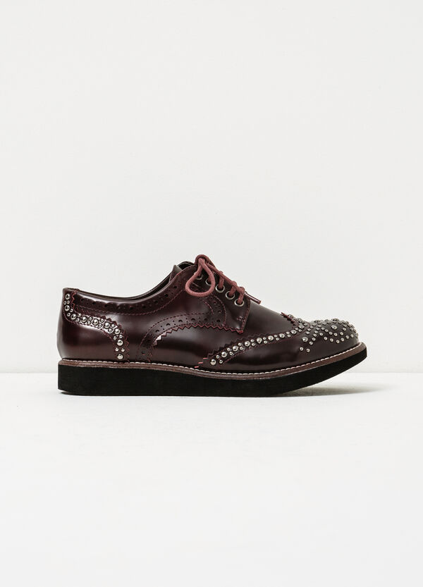 Solid colour brogues with studs | OVS