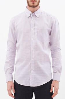 Slim-fit shirt in 100% cotton oxford, Multicolour, hi-res