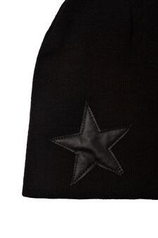 Plain beanie hat, Black, hi-res
