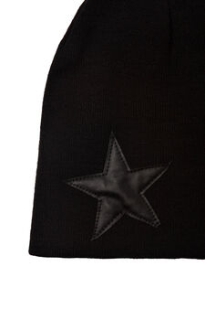 Cappello beanie tinta unita, Nero, hi-res