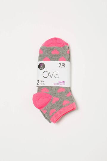 Two-pack short patterned socks
