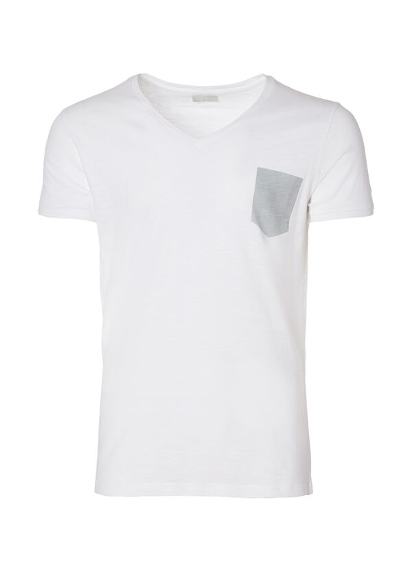 Underwear T-shirt with a printed pocket | OVS