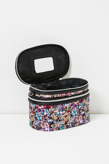 Patterned vanity case with shoulder strap, Multicolour, hi-res