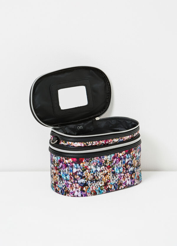 Patterned vanity case with shoulder strap | OVS