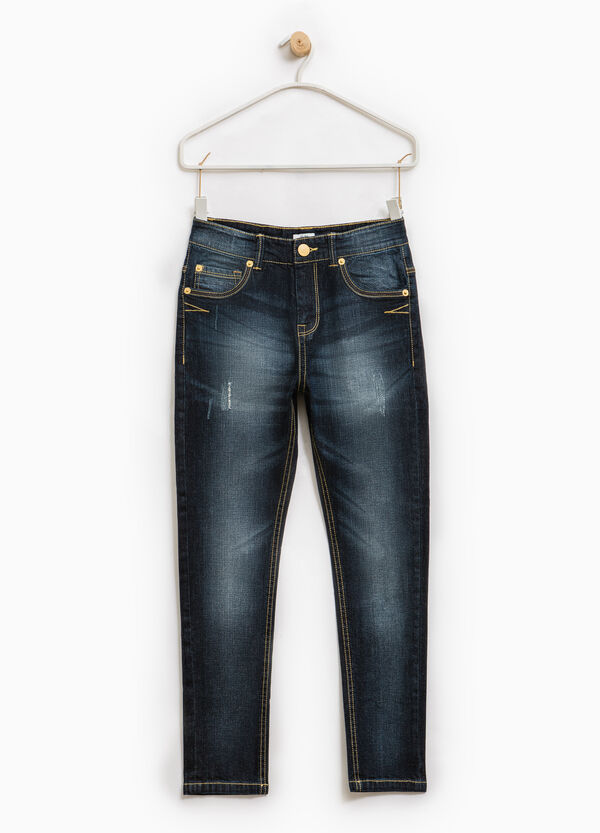 Jeans stretch used con abrasioni | OVS