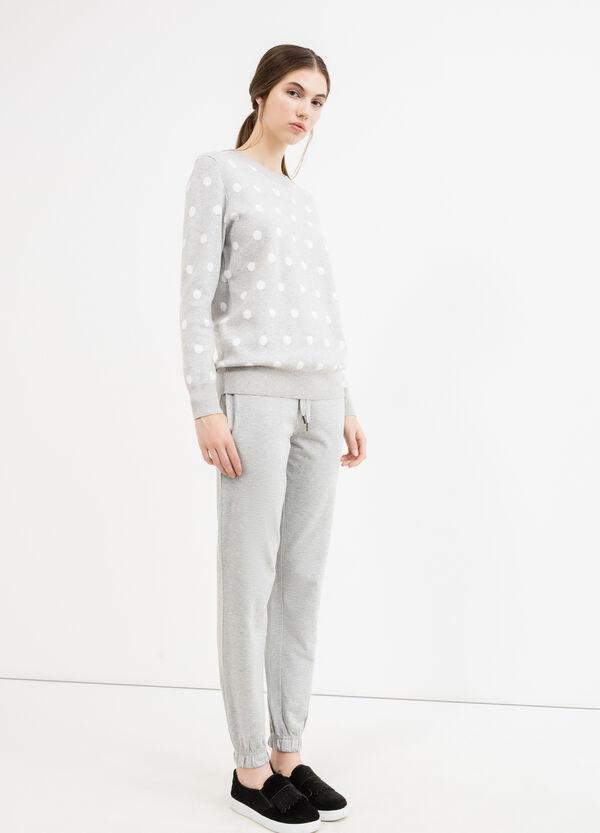 Pantaloni tuta lino cotone con coulisse | OVS